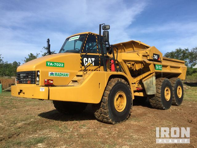 2009 Cat 740EJ Articulated Ejector Truck, Articulated Dump Truck