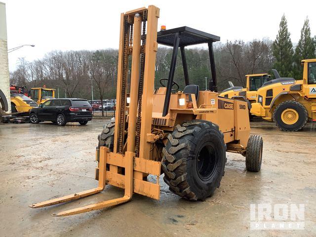 Case 586D Rough Terrain Forklift, Rough Terrain Forklift
