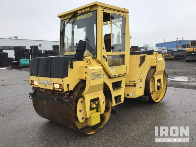 2004 Bomag BW154AD-2 Vibrating Double Drum Roller, Roller