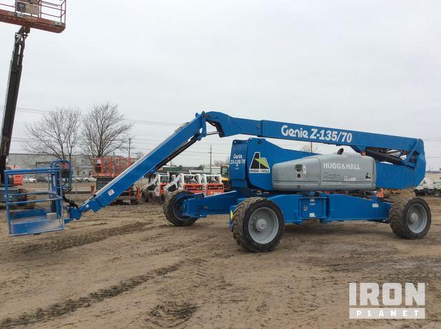 2015 Genie ZX-135/70 4WD Diesel Articulating Boom Lift, Boom Lift