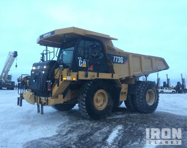 2014 Cat 773G Off-Road End Dump Truck, Rock Truck