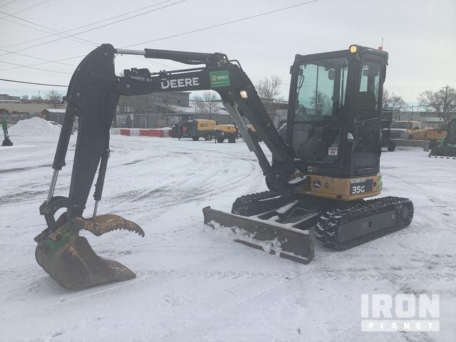 2014 John Deere 35G Mini Excavator, Mini Excavator (1 - 4.9 Tons)
