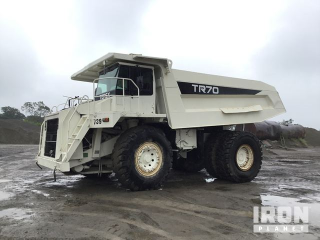 Terex TR70 Off-Road End Dump Truck, Rock Truck
