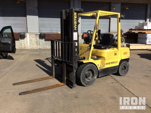 Hyster H60XM Pneumatic Tire Forklift, Forklift