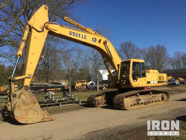 John Deere 892ELC Track Excavator, Hydraulic Excavator