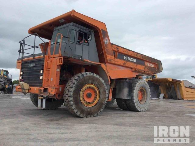 Hitachi EH1100 Off-Road End Dump Truck, Rock Truck