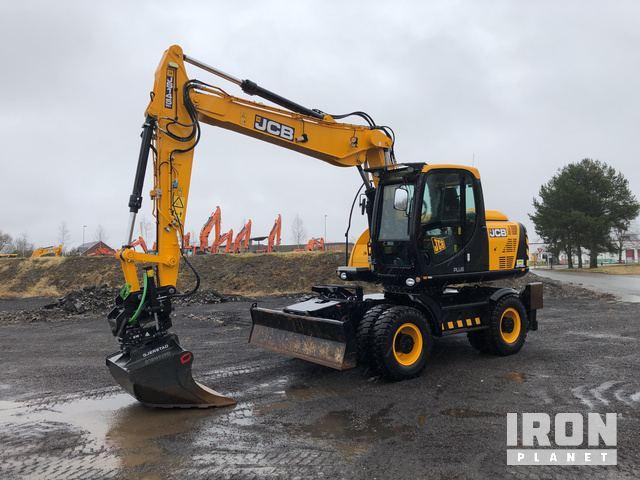 2017 JCB JS145W+ Wheel Excavator, Mobile Excavator