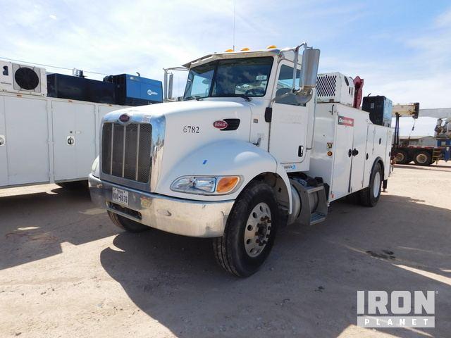 2011 PETERBILT PB337 S/A Service Truck w/ Crane, Service Truck