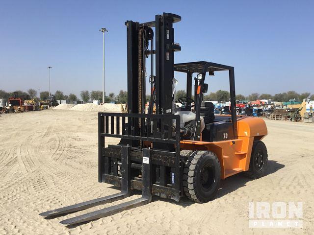 2019 Hangcha CPCD70 Pneumatic Tire Forklift - Unused, Forklift
