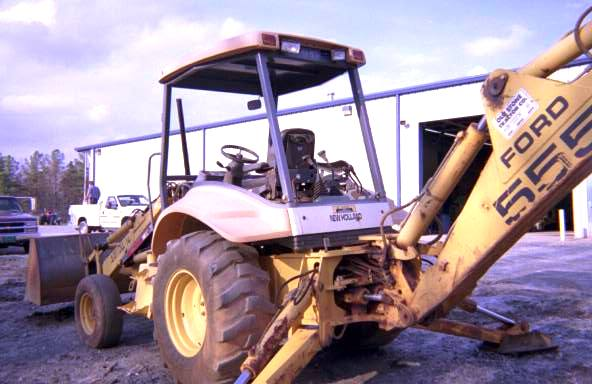1996 New Holland 555E Backhoe Loader in Anderson, South
