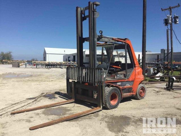 Linde H60D Pneumatic Tire Forklift, Forklift