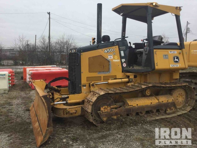 2013 John Deere 450J LT Crawler Dozer, Crawler Tractor