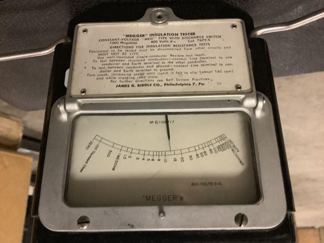 Surplus James G Biddle 7679 5 Megger Insulation Tester In Wasilla Alaska United States Govplanet Item 3367463
