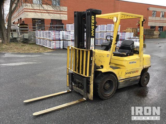 Hyster H50XM Pneumatic Tire Forklift, Forklift