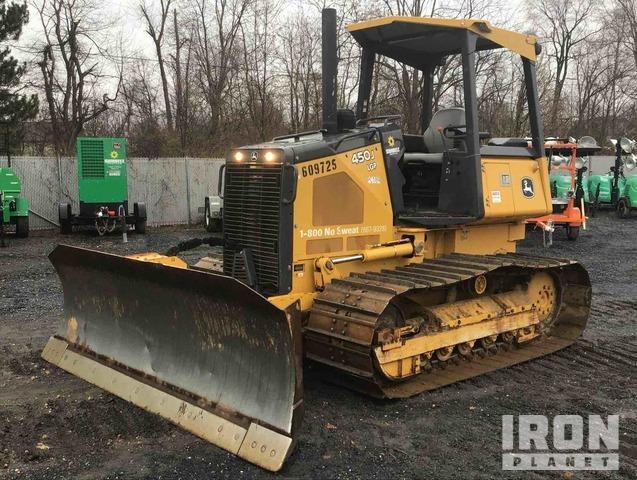 2014 John Deere 450J LGP Crawler Dozer: <100hp, Crawler Tractor