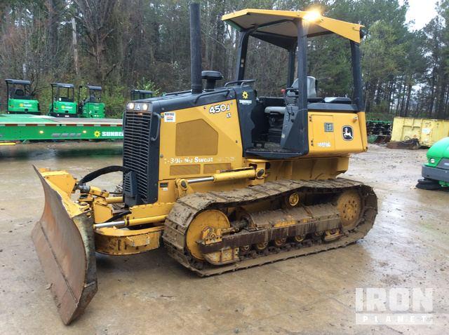 2014 John Deere 450J LT Crawler Dozer, Crawler Tractor