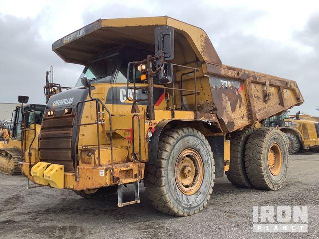 2014 Cat 772 Off-Road End Dump Truck, Rock Truck