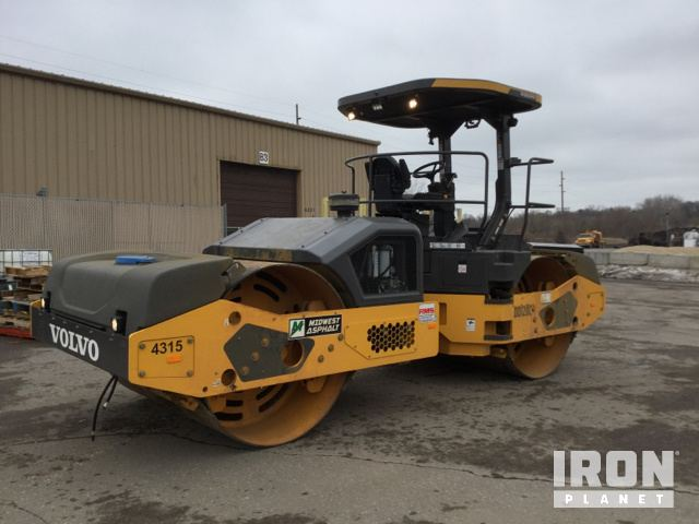 2018 Volvo DD120C Vibratory Double Drum Roller, Roller