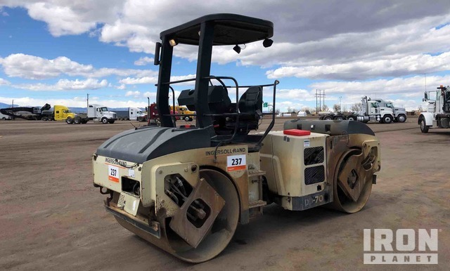 Ingersoll-Rand DD-70 Vibratory Double Drum Roller, Tandem Roller