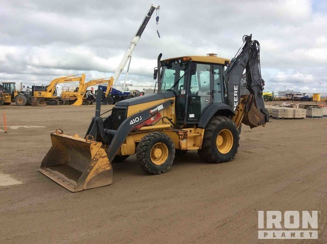 2010 John Deere 410J 4x4 Backhoe Loader, Loader Backhoe