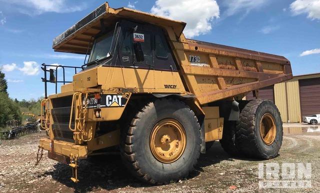 Cat 773D Off-Road End Dump Truck, Rock Truck