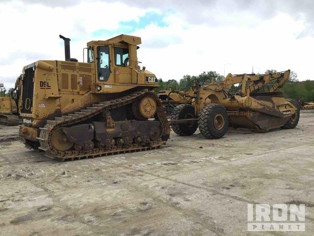 Cat D9L Crawler Tractor w/Cat 463F Pull Scraper, Crawler Tractor