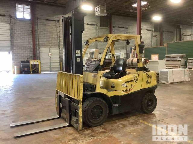 2007 Hyster H80FT Pneumatic Tire Forklift, Forklift