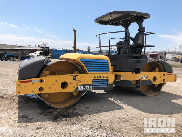 2010 Volvo DD138HF Vibratory Double Drum Roller, Roller