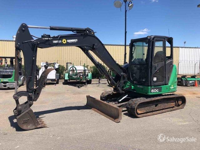 2016 (unverified) John Deere 60G Mini Excavator, Mini Excavator (1 - 4.9 Tons)