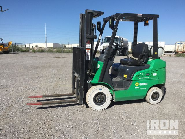 2014 (unverified) Mitsubishi FG18N Pneumatic Tire Forklift, Forklift