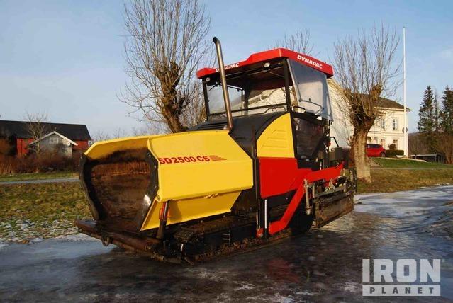 2012 Dynapac SD2500 CS Asphalt Paver, Asphalt Paver