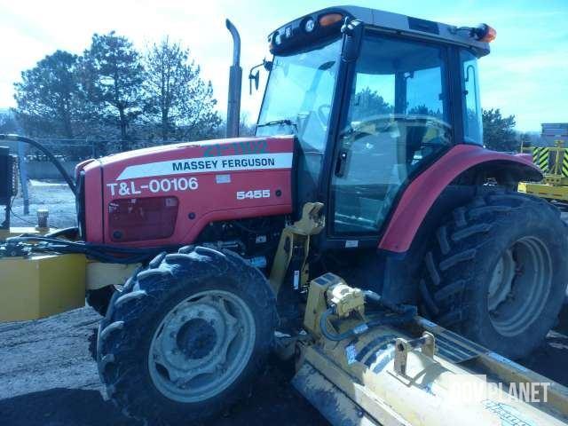 2006 Massey Ferguson 54554WD Tractor w/Diamond Triple Flail - D6224, Utility Tractor