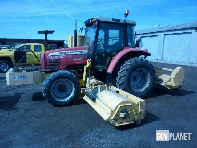 2006 Massey Ferguson 54554WD Tractor w/Diamond Triple Flail - D6225, Utility Tractor
