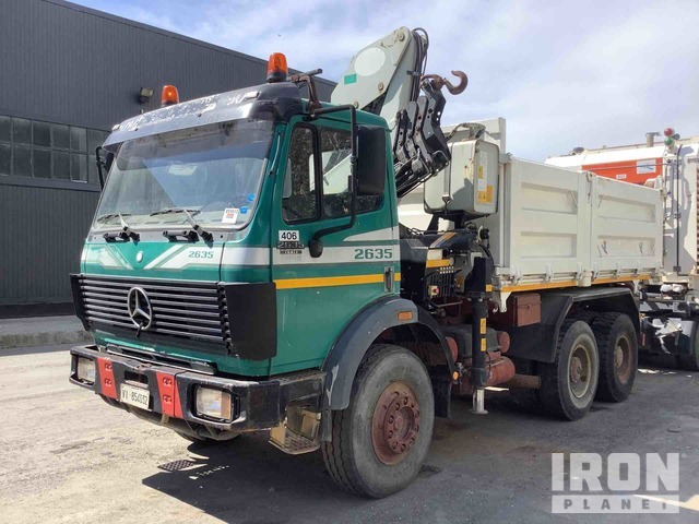 2001 Mercedes-Benz 2635 6x4 Dump Truck w/Crane, Dump Truck w/Crane