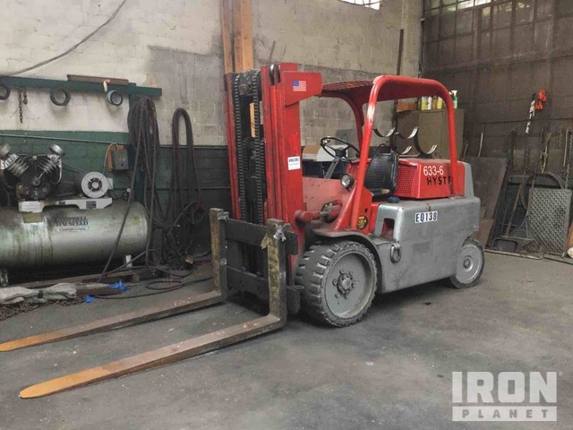 Hyster S125A Pneumatic Tire Forklift, Forklift