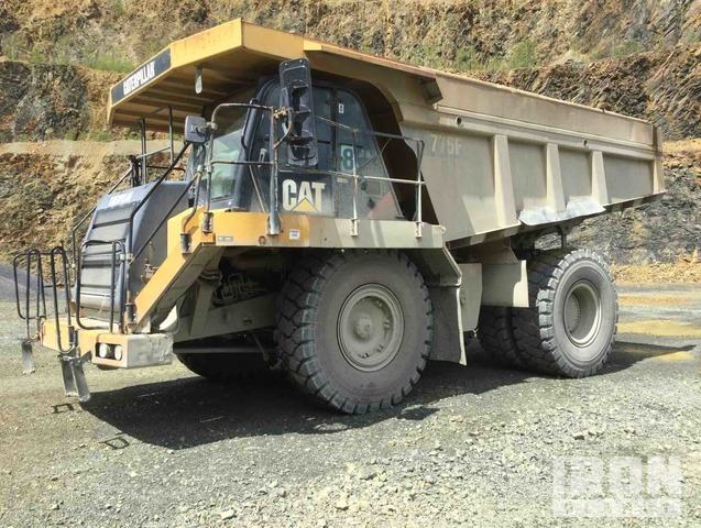 2007 Cat 775F Off-Road End Dump Truck, Rock Truck