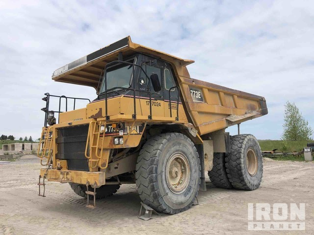 2002 Cat 773E Off-Road End Dump Truck, Rock Truck