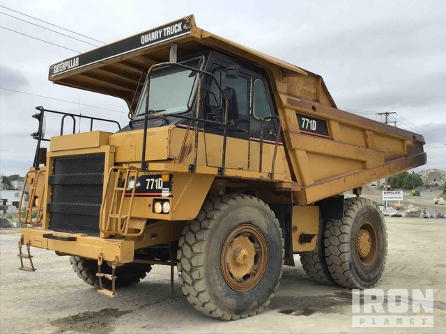 Cat 771D Off-Road End Dump Truck, Rock Truck