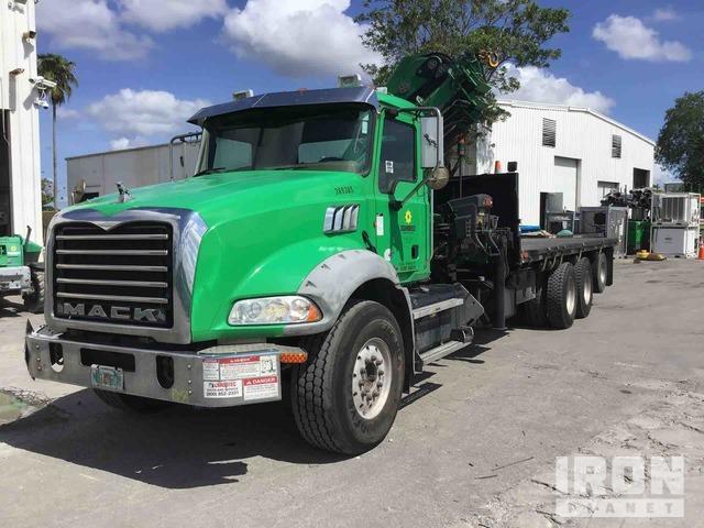 Hiab XS288 EP-4 Hi Pro Knuckle Boom on 2012 Mack GU813 Tri/A Truck, Boom Truck