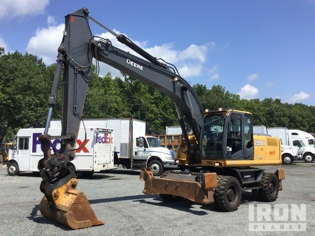 2013 (unverified) John Deere 220D-W Wheel Excavator, Mobile Excavator