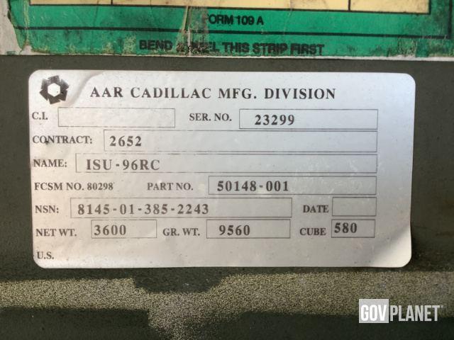 Surplus Aar Cadillac Isu 96rc Storage Container In Junction City Kansas United States Govplanet Item 3712708