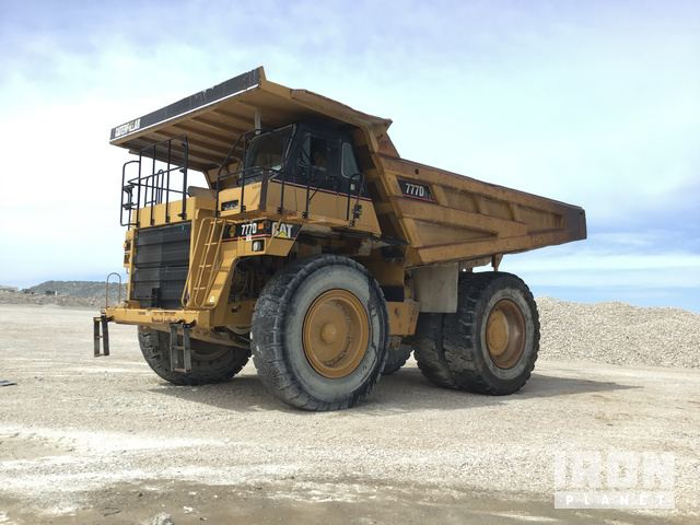 2006 Cat 777D Off-Road End Dump Truck, Rock Truck
