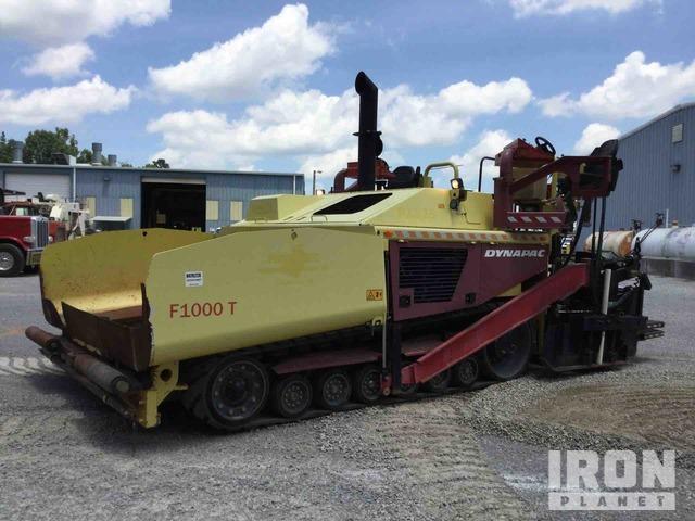 2015 (unverified) Dynapac F1000T Asphalt Paver, Asphalt Paver