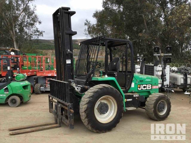 2015 (unverified) JCB 930 6000 lb 4x4 Rough Terrain Forklift, Rough Terrain Forklift