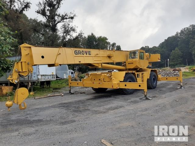 1988 Grove RT875CC 40 4x4 Rough Terrain Crane, Rough Terrain Crane