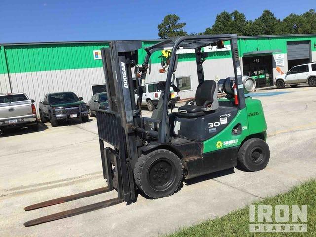 2012 (unverified) Doosan G30P-5 Pneumatic Tire Forklift, Forklift