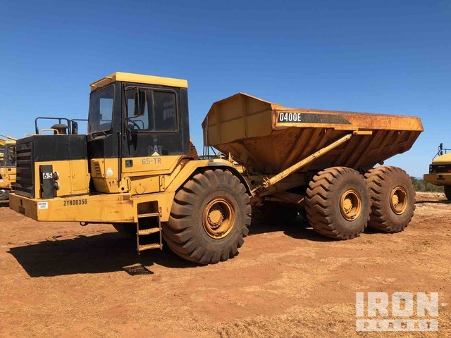 Cat D400E 6x6 Articulated Dump Truck, Articulated Dump Truck