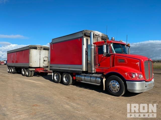 2013 Kenworth T403 6x4 Tipper Truck & 2013 CBB 5/Axle Dog Tipping Trailer, Dump Truck (T/A)