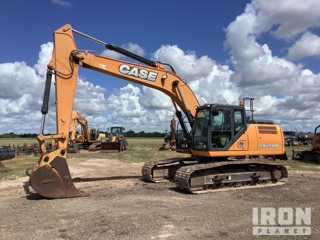 2015 Case CX250D Track Excavator, Hydraulic Excavator