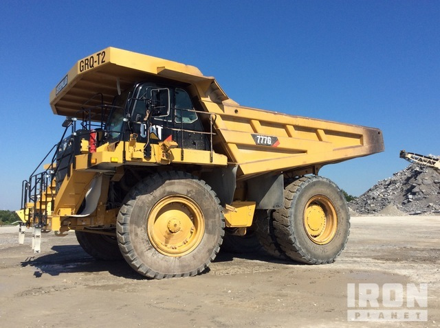 2013 Cat 777G Off-Road End Dump Truck, Rock Truck